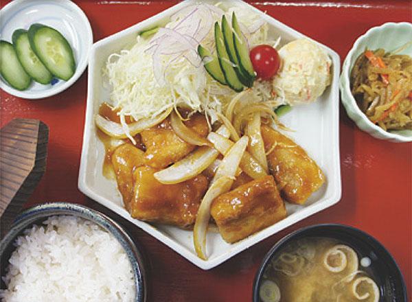 特製豚バラ定食(特製オリジナルソース)