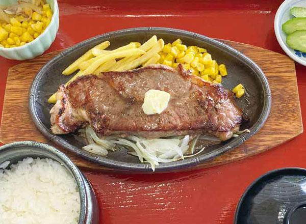 ステーキ鉄板焼き定食
